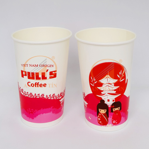 ly giấy 16oz pull's coffee